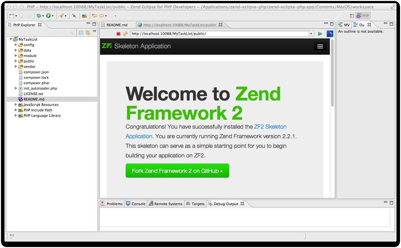 Getting Started with Zend Framework 2 — Zend Framework 2 2 4 13dev